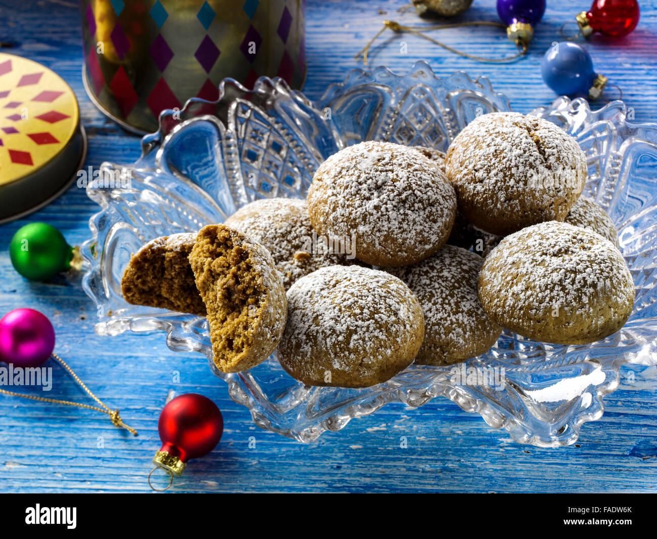 Pfeffernusse cookies - Stock Image