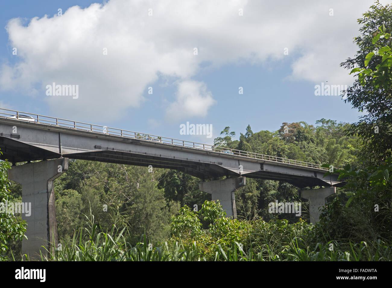 Concrete span bridge Kuranda Australia - Stock Image