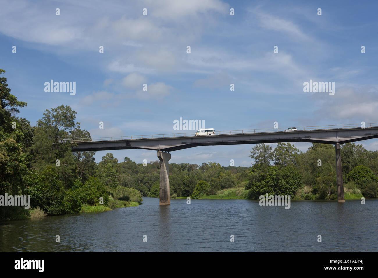 Concrete span bridge Kuranda Queensland - Stock Image