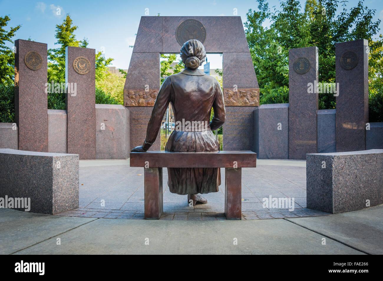 Western North Carolina Veterans Memorial at Pack Place Park in downtown Asheville, North Carolina, USA. - Stock Image