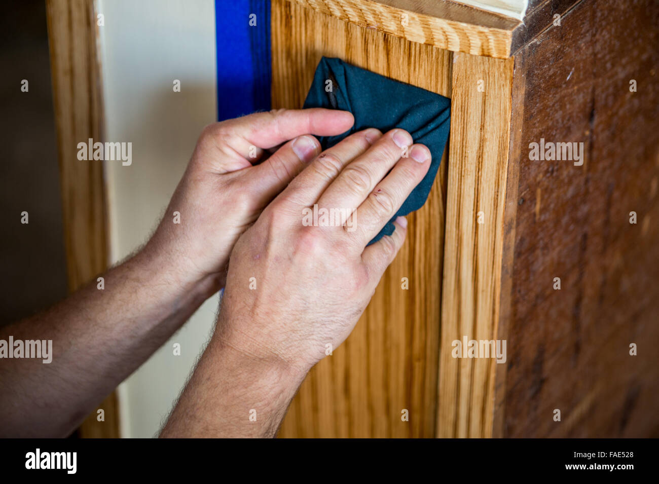 Wood Graining Stock Photo Alamy