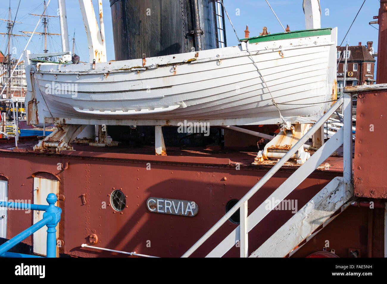 England, Ramsgate. 1946 tug boat, Cervia, formerly known as 'Empire Raymond', moored as floating museum. - Stock Image