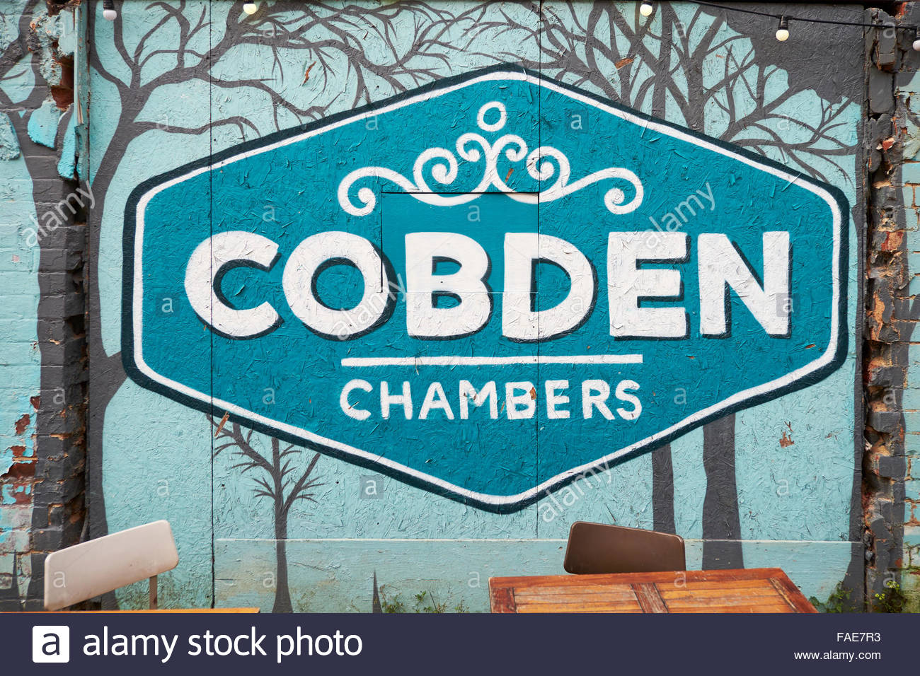 Cobden Chambers, small, independent businesses and retailers in Nottingham's Creative Quarter in Hockley  Nottingham - Stock Image