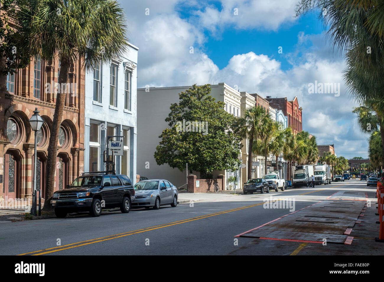 Street view in Charleston, South Carolina - Stock Image