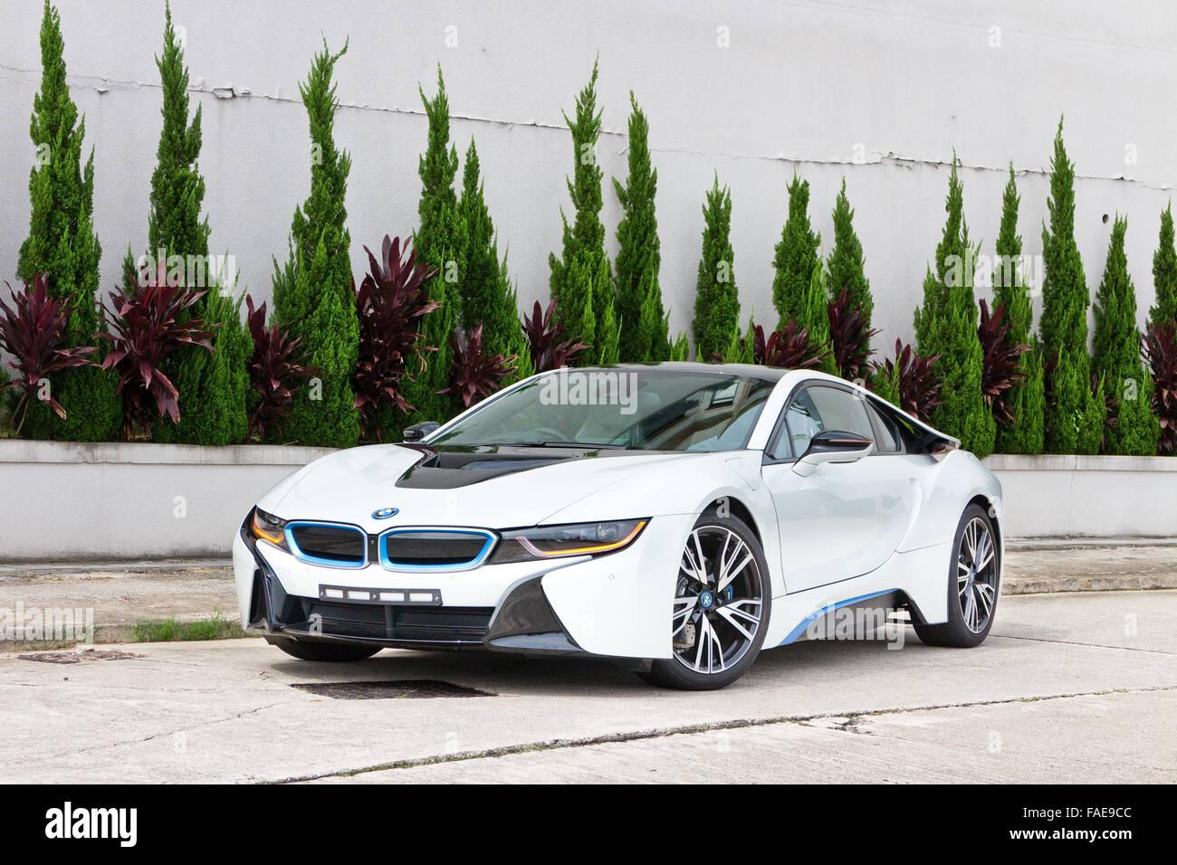 Hong Kong, China Nov 12, 2014 : BMW i8 2014 test drive on Nov 12 2014 in Hong Kong. - Stock Image