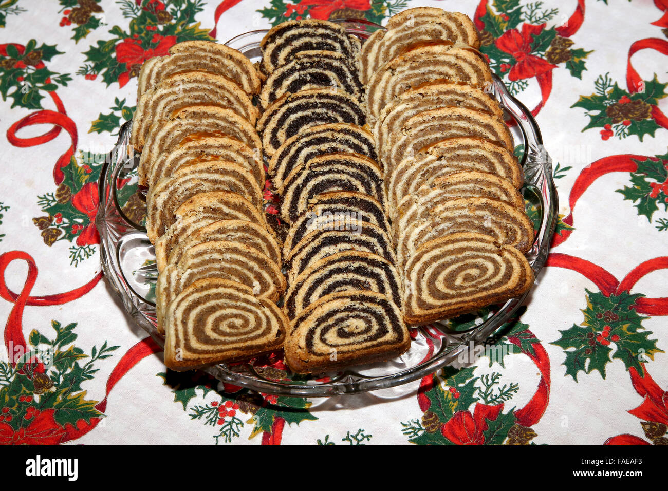 beigli is the famous traditional hungarian christmas cake stock image