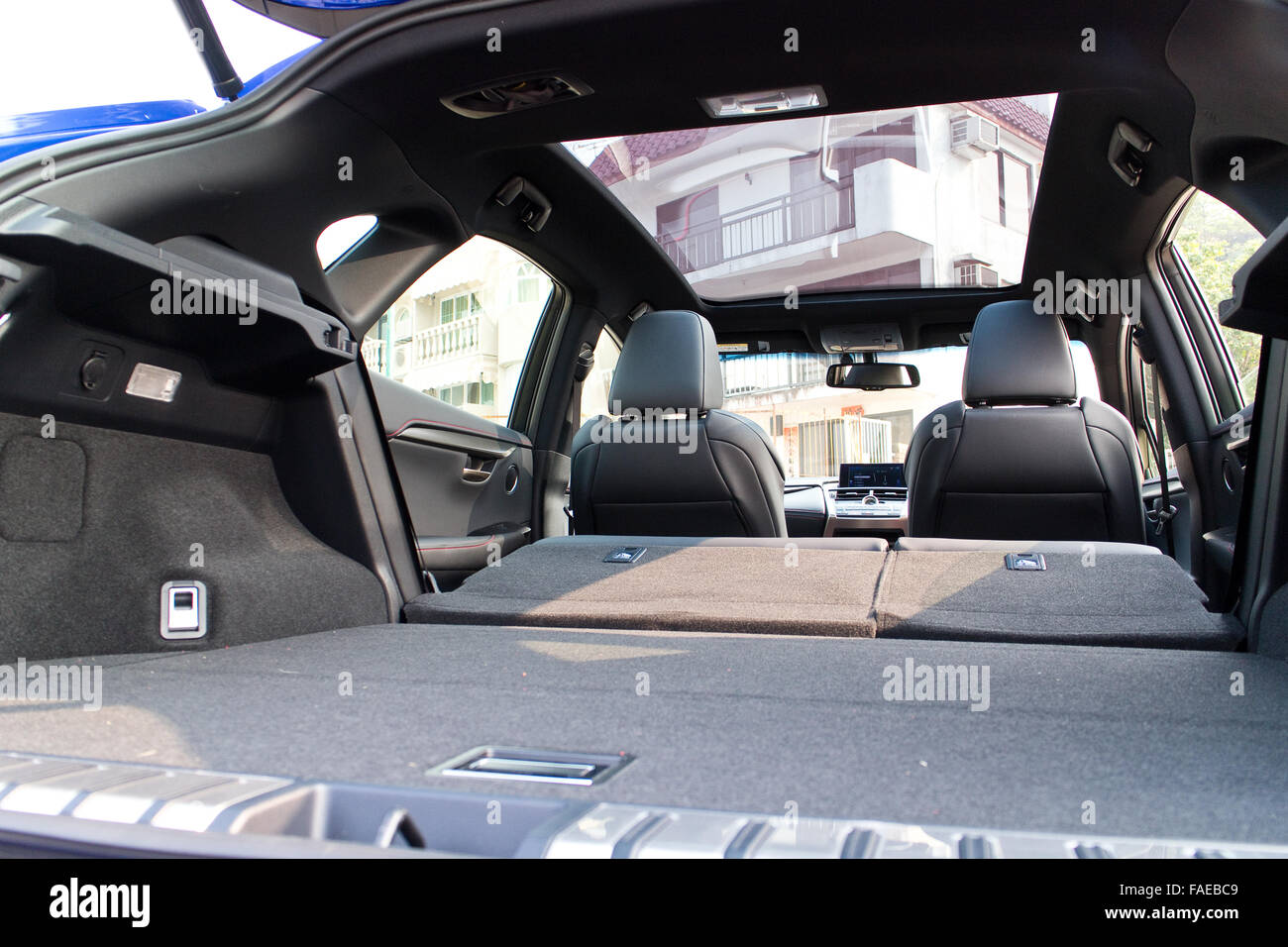 Hong Kong, China Jan 21, 2015 : Lexus NX 200t 2015 Trunk on Jan 21 2015 in Hong Kong. - Stock Image