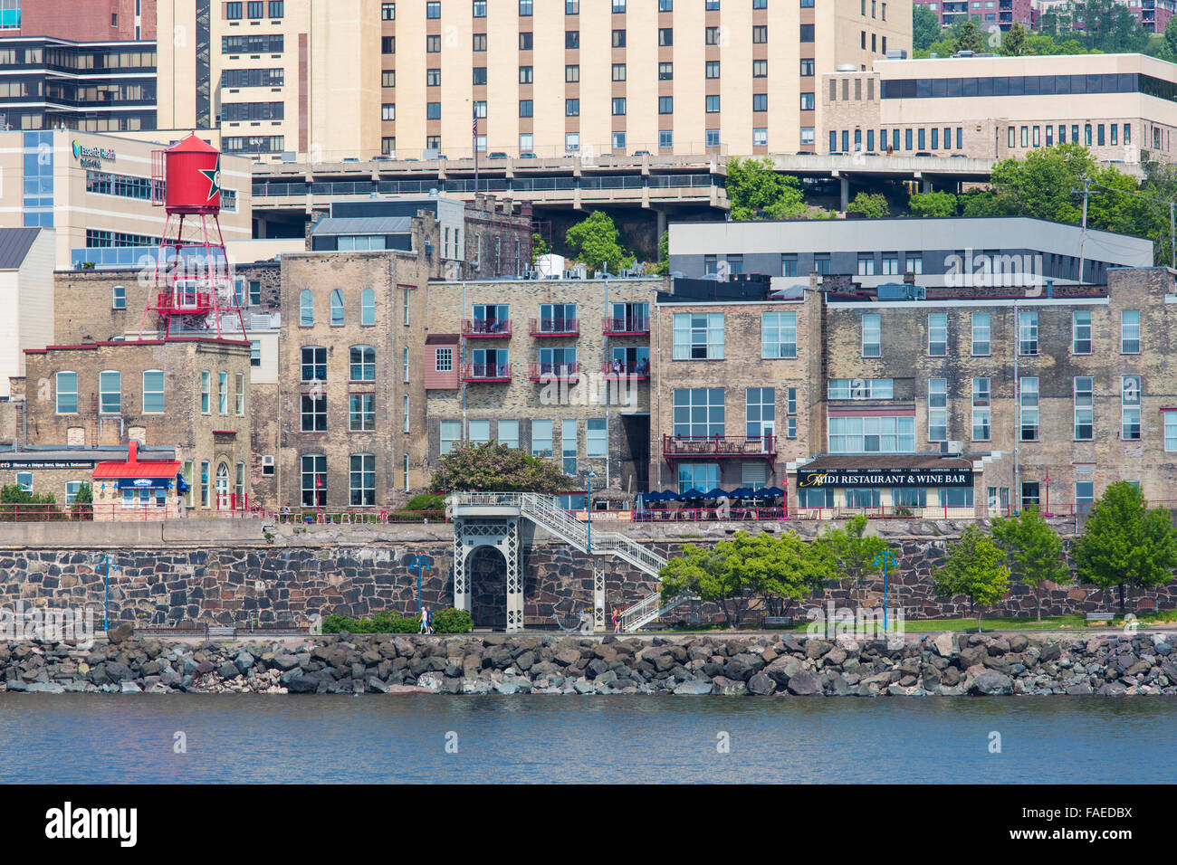 Shoreline in Duluth Minnesota on the north western shore of Lake Superior - Stock Image