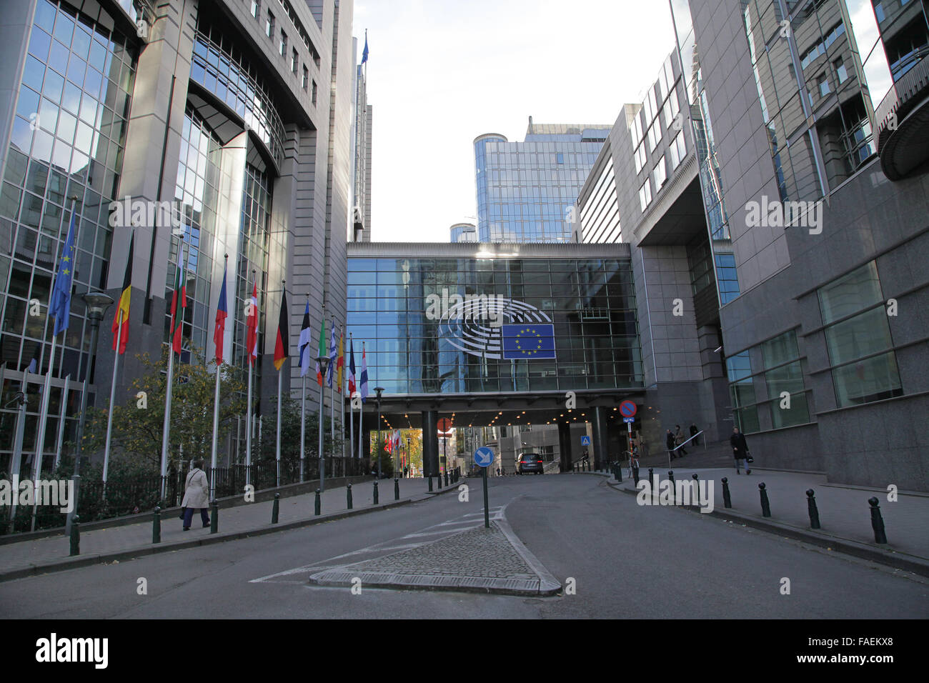 European union headquarters in Brussels Belgium - Stock Image