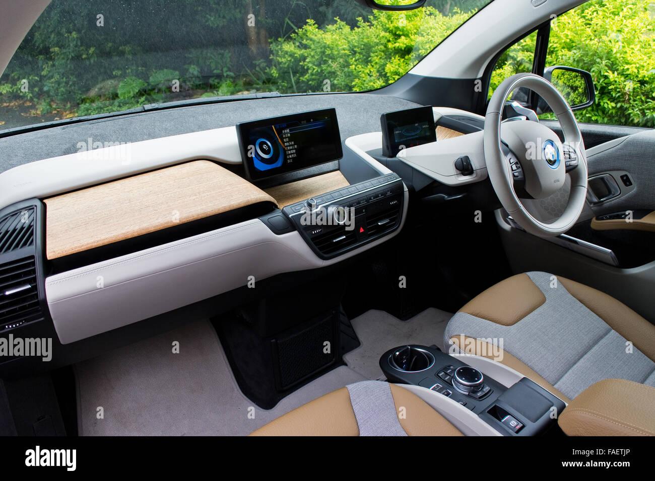 Bmw I3 Electric Car Interior Stock Photos Bmw I3 Electric Car