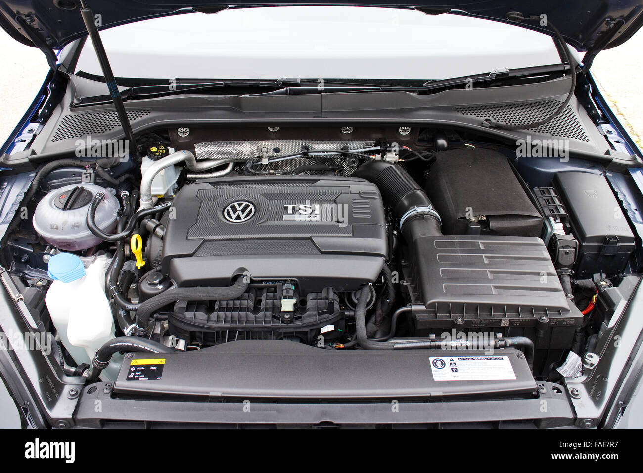 Hong Kong, China April 16, 2014 : Volkswagen Golf R 2014 2015 Version engine on April 16 2014 in Hong Kong. - Stock Image
