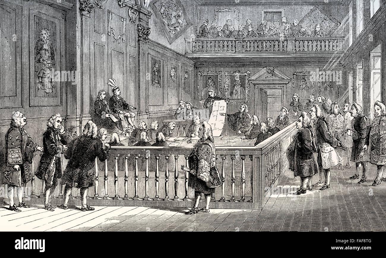 The Last Heraldic Court, London, England - Stock Image