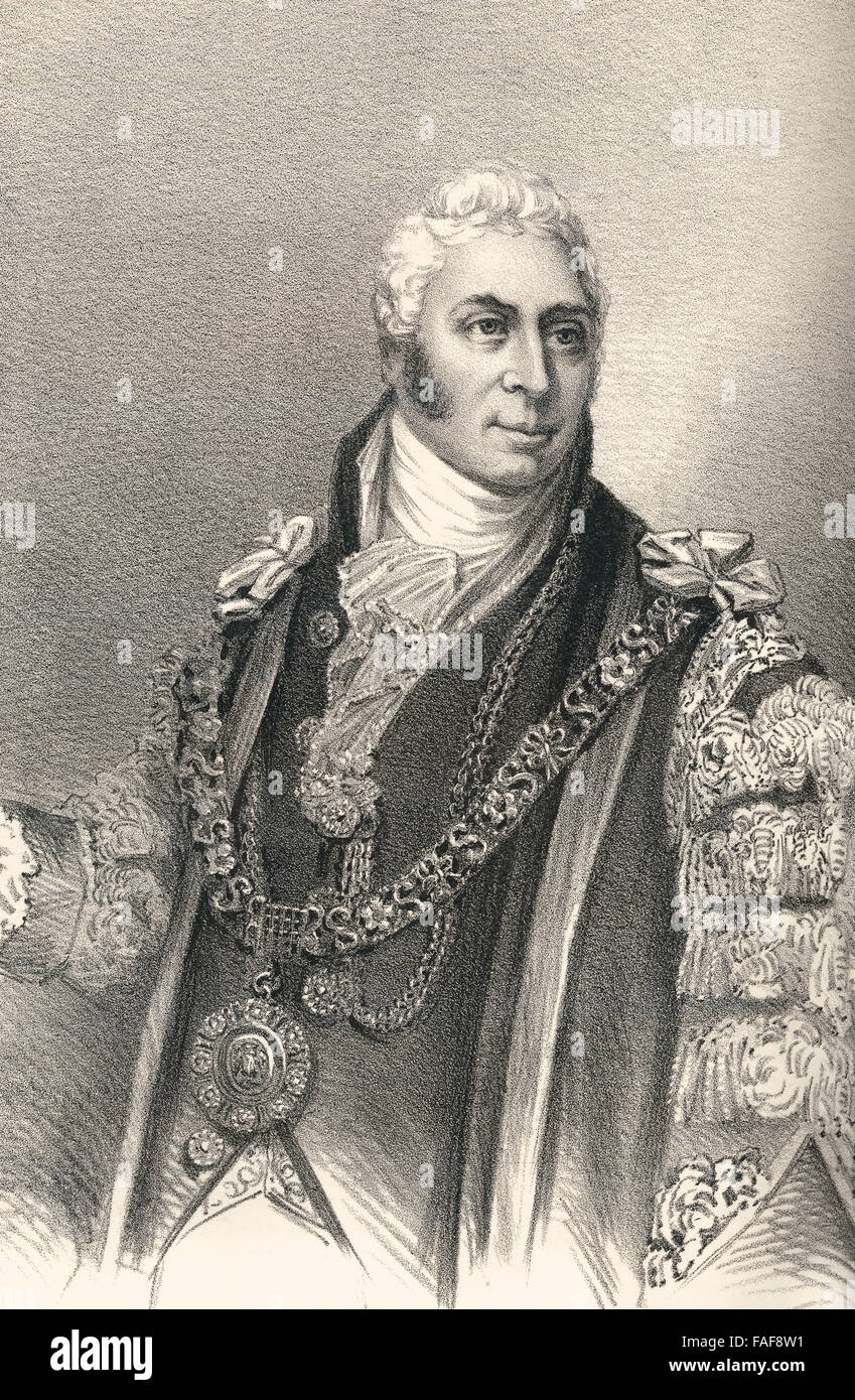 Sir Matthew Wood, 1st Baronet, 1768-1843, a British Whig politician - Stock Image