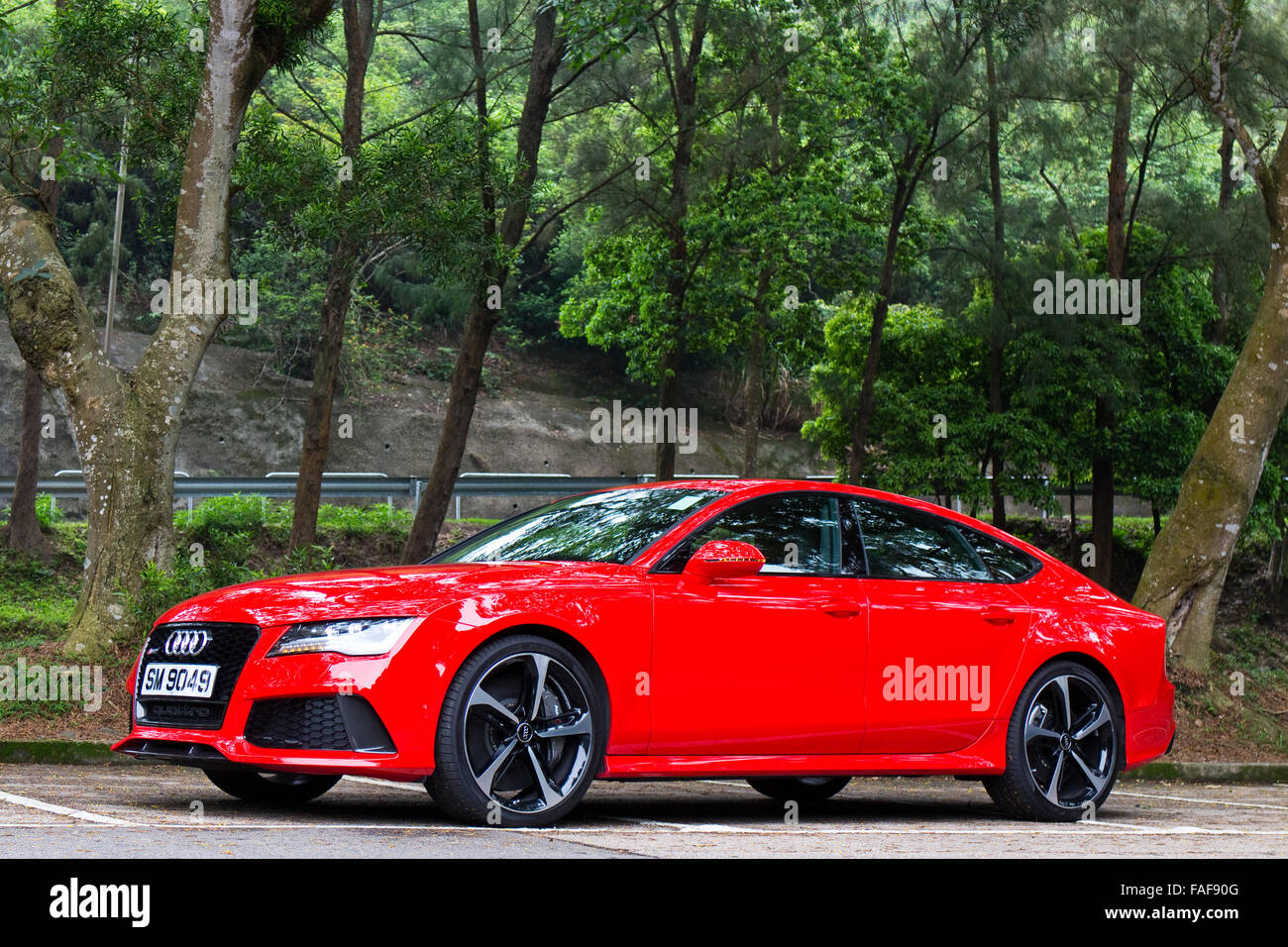 Audi Rs7 Stock Photos Images Alamy 2017 Sportback With A Red Colour Hong Kong China April 30 2014 Seden Test Drive