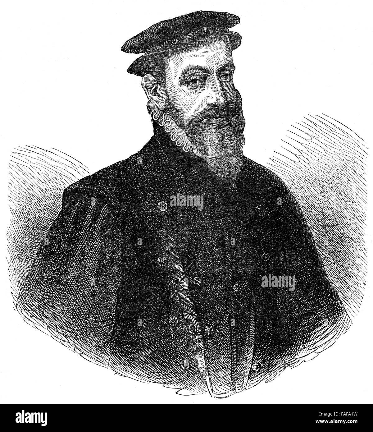 Sir Thomas Gresham the Elder, 1519-1579, an English merchant and financier Stock Photo