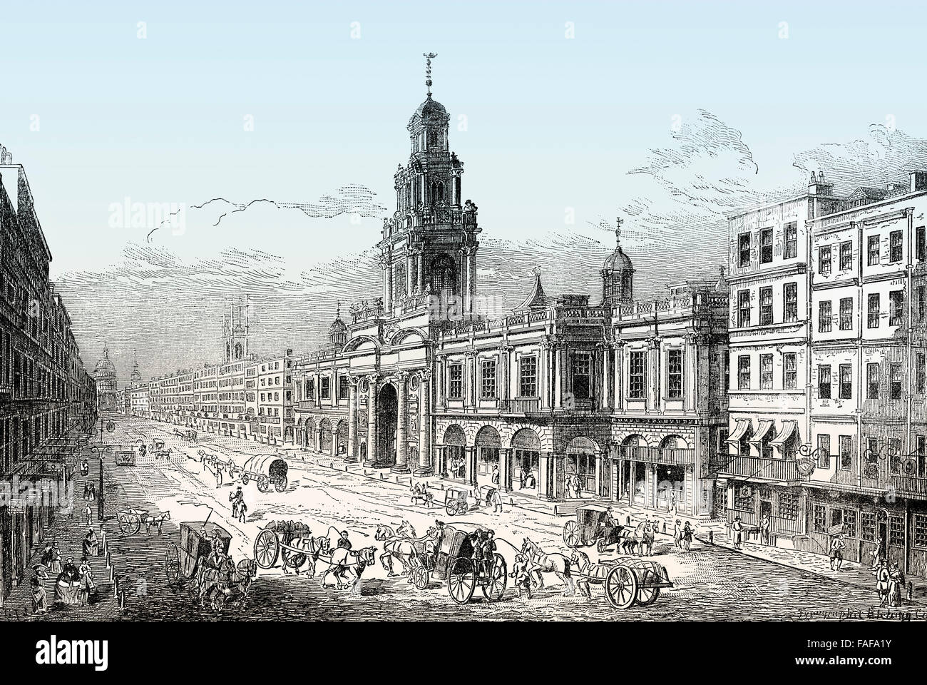 The second Royal Exchange, London, 18th century - Stock Image