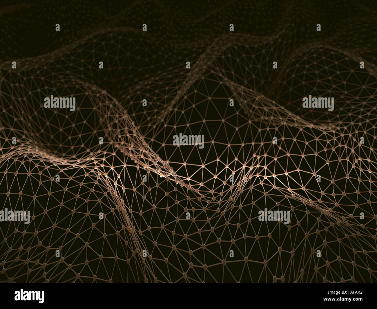 Abstract image representing the connections of communication and information technology. Image with depth of field. - Stock Image