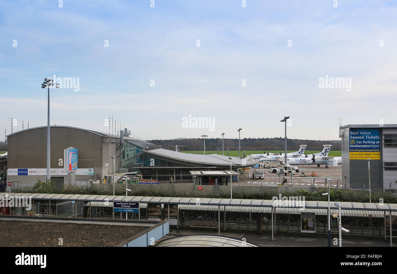 Southampton Airport in Eastleigh, Southampton, Hampshire - Stock Image