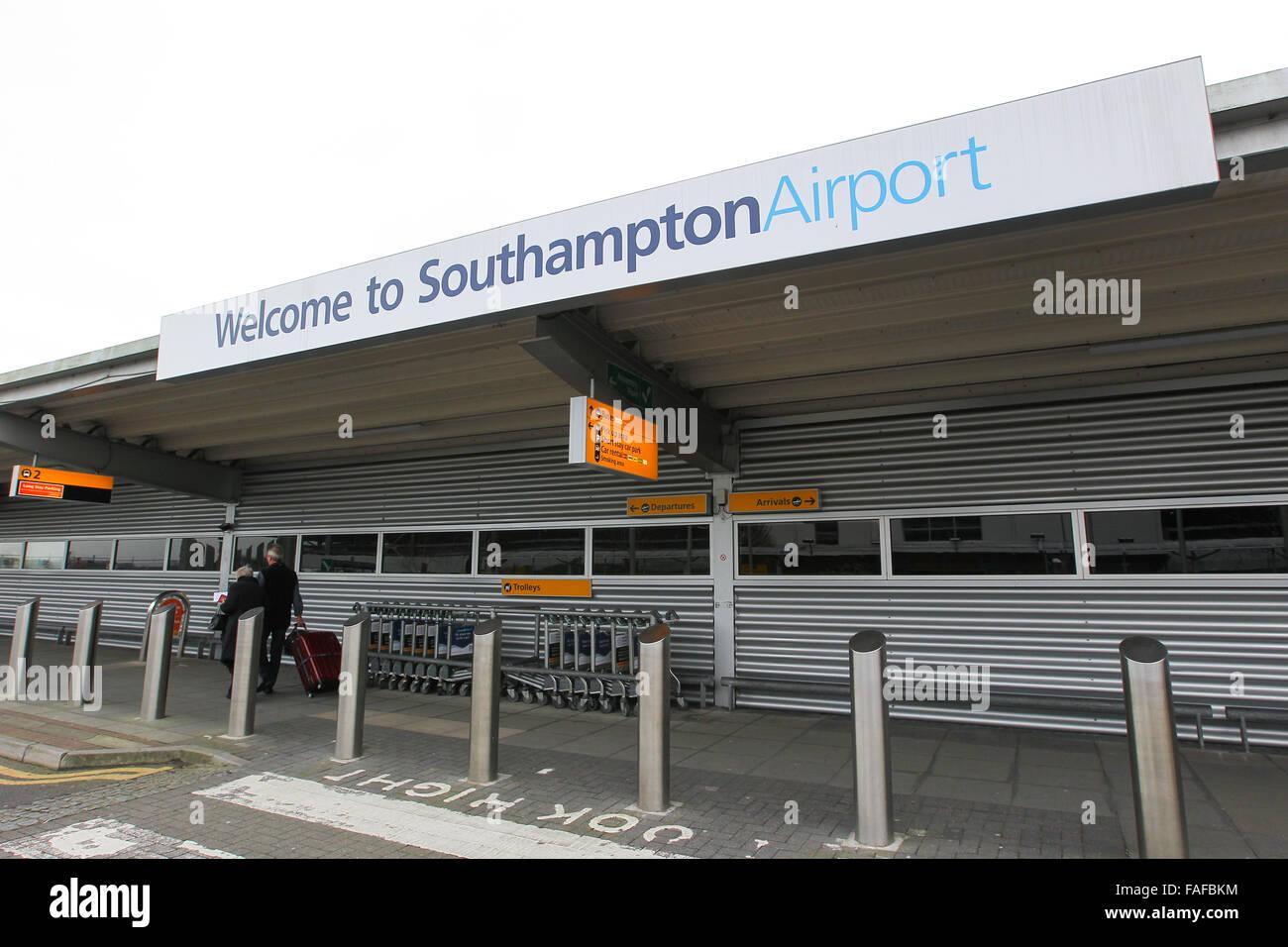 Southampton Airport in Eastleigh, Southampton, Hampshire - Stock Image
