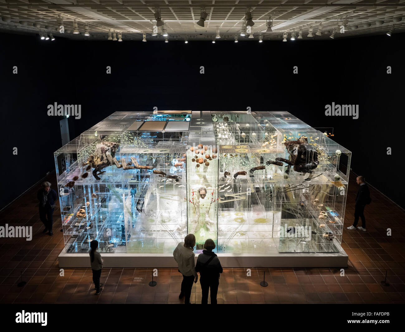 David Altmejd's art installation 'The Flux and the Puddle' at Louisiana Museum of Modern Art. FOR EDITORIAL - Stock Image
