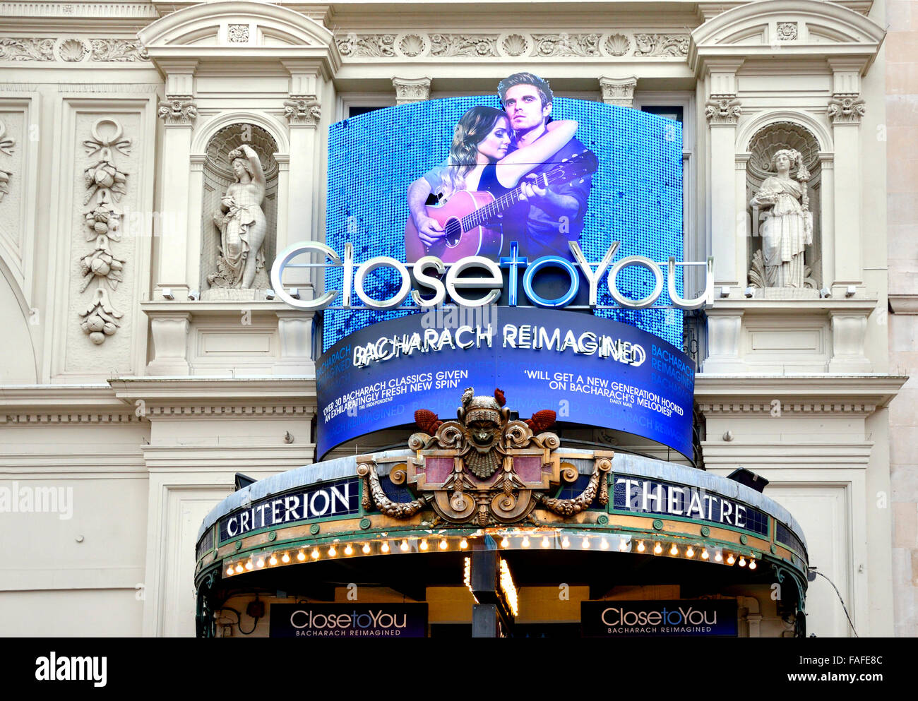 London, England, UK. 'Close To You - Burt Bacharach Reimagined' at the Criterion Theatre, Piccadilly Circus - Stock Image