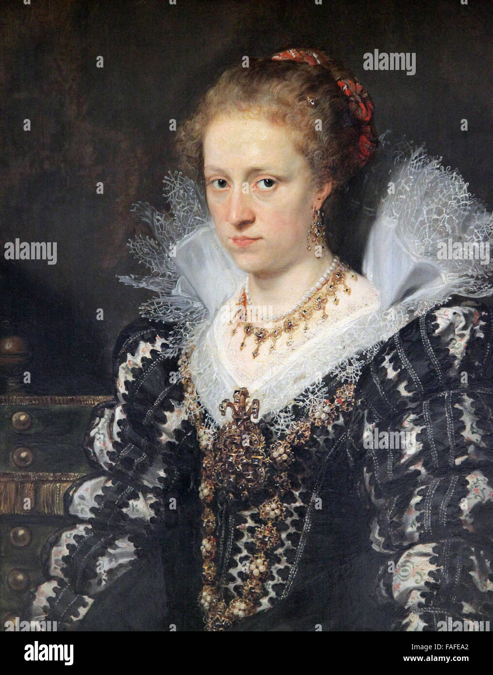 Jacqueline van Caestre wife of Jean Charles de Cordes by Peter Paul Rubens - Stock Image