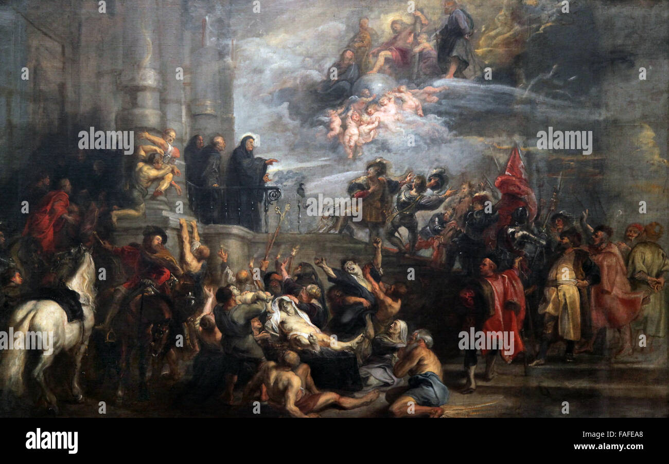 The Miracles of St.Benedict Peter Paul Rubens - Stock Image