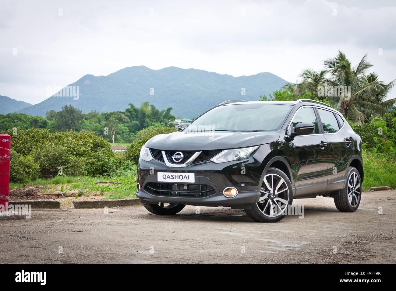 Hong Kong, China June 5, 2014 : Nissan Qashqai test drive on June 5 2014 in Hong Kong. - Stock Image