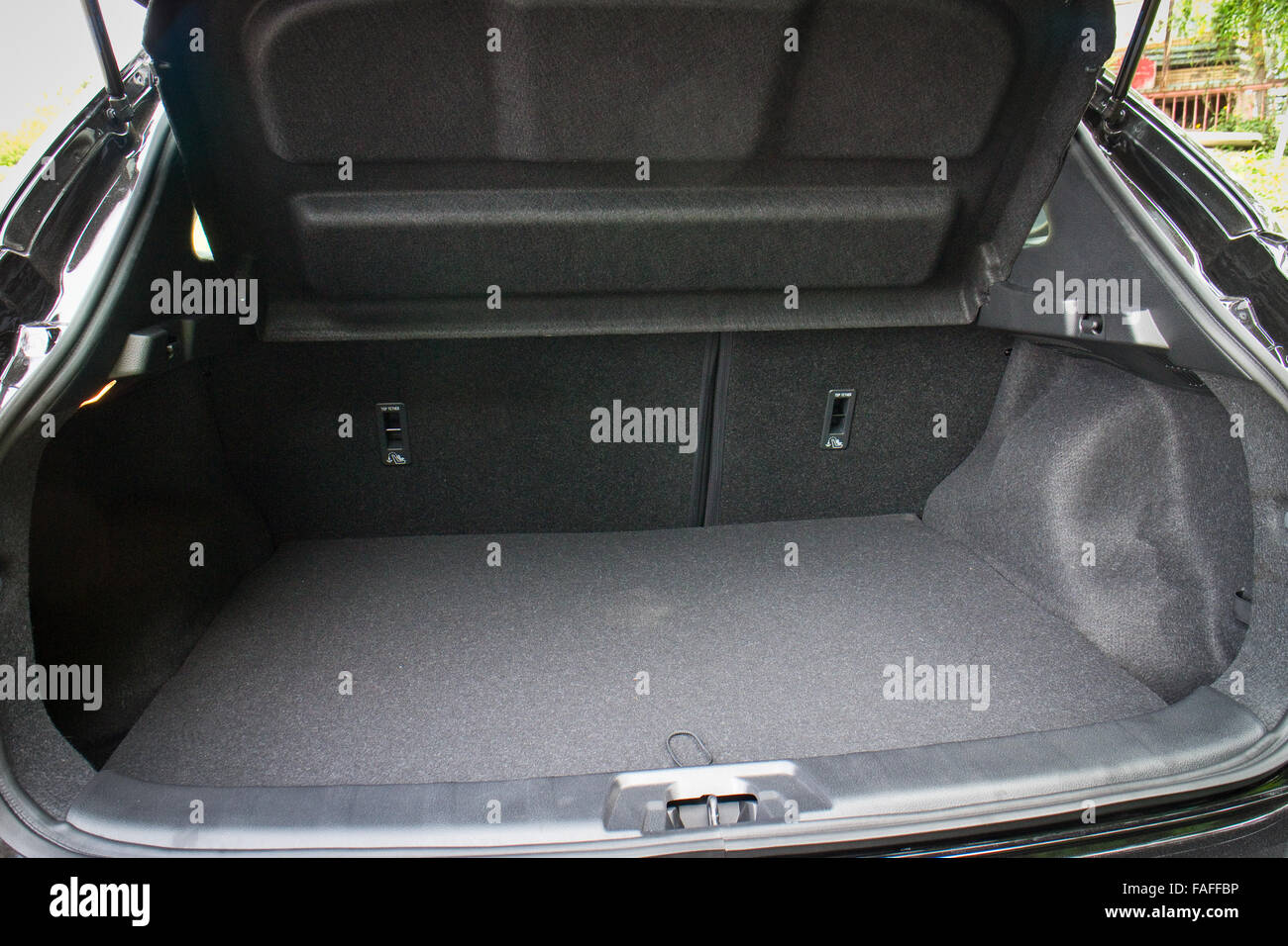Hong Kong, China June 5, 2014 : Nissan Qashqai trunk  on June 5 2014 in Hong Kong. - Stock Image