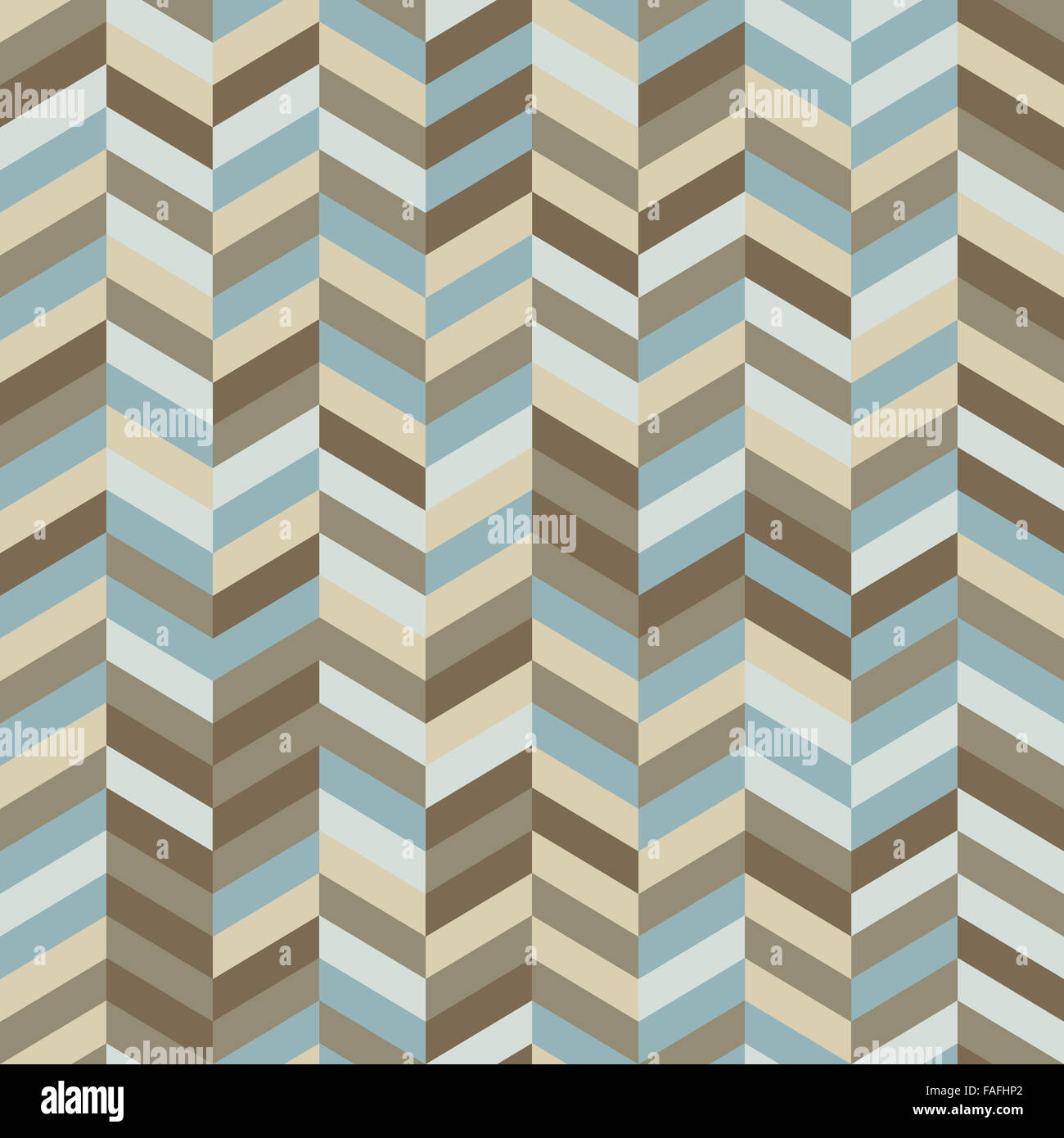 Zig Zag Background in Trendy Hipster Colors - Stock Image