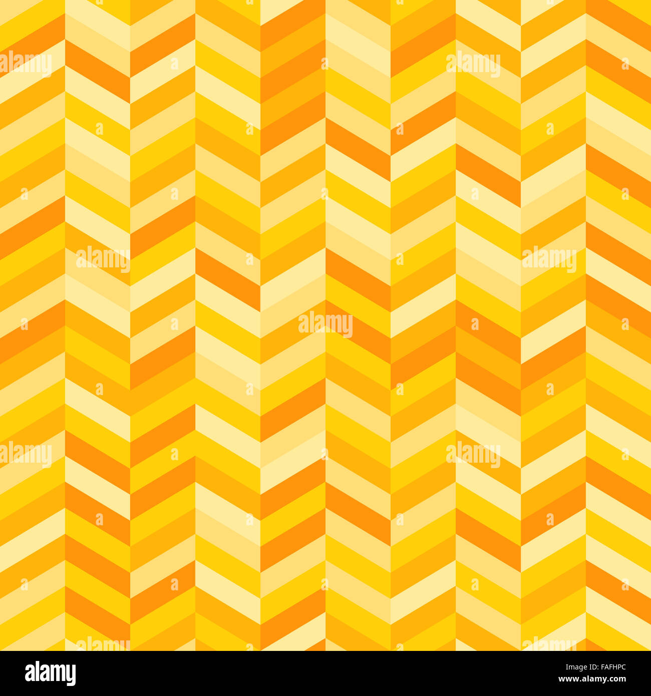Zig Zag Background in Shades of Yellow and Orange - Stock Image