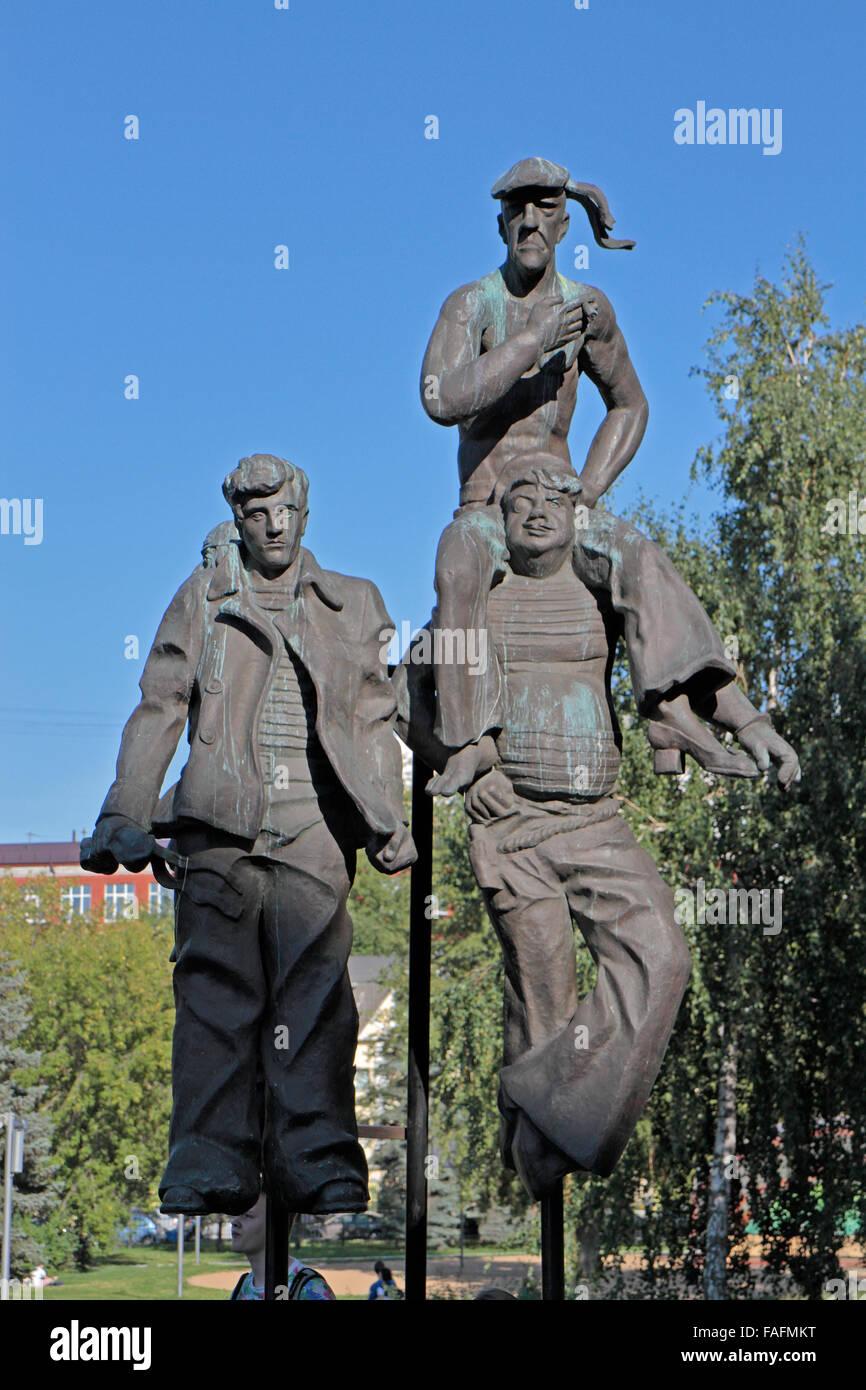 'Optimistic Tragedy' by AI Rukavishnikov in the Fallen Monument Park (Muzeon Park of Arts), Moscow, Russia. - Stock Image