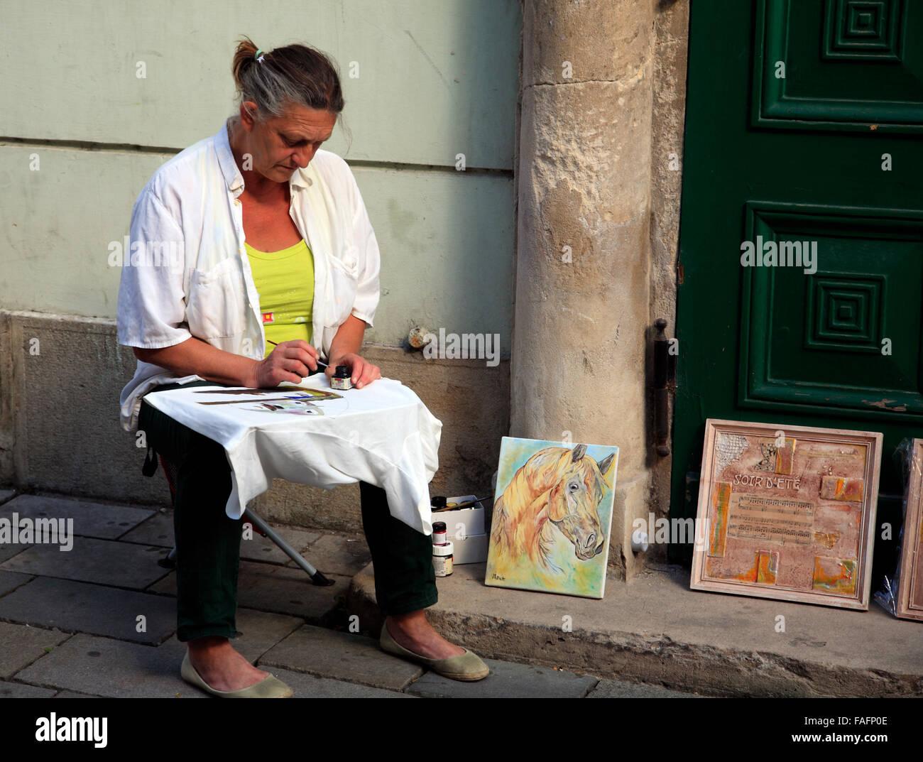 Painter, Bratislava, Slowakei, Europa - Stock Image