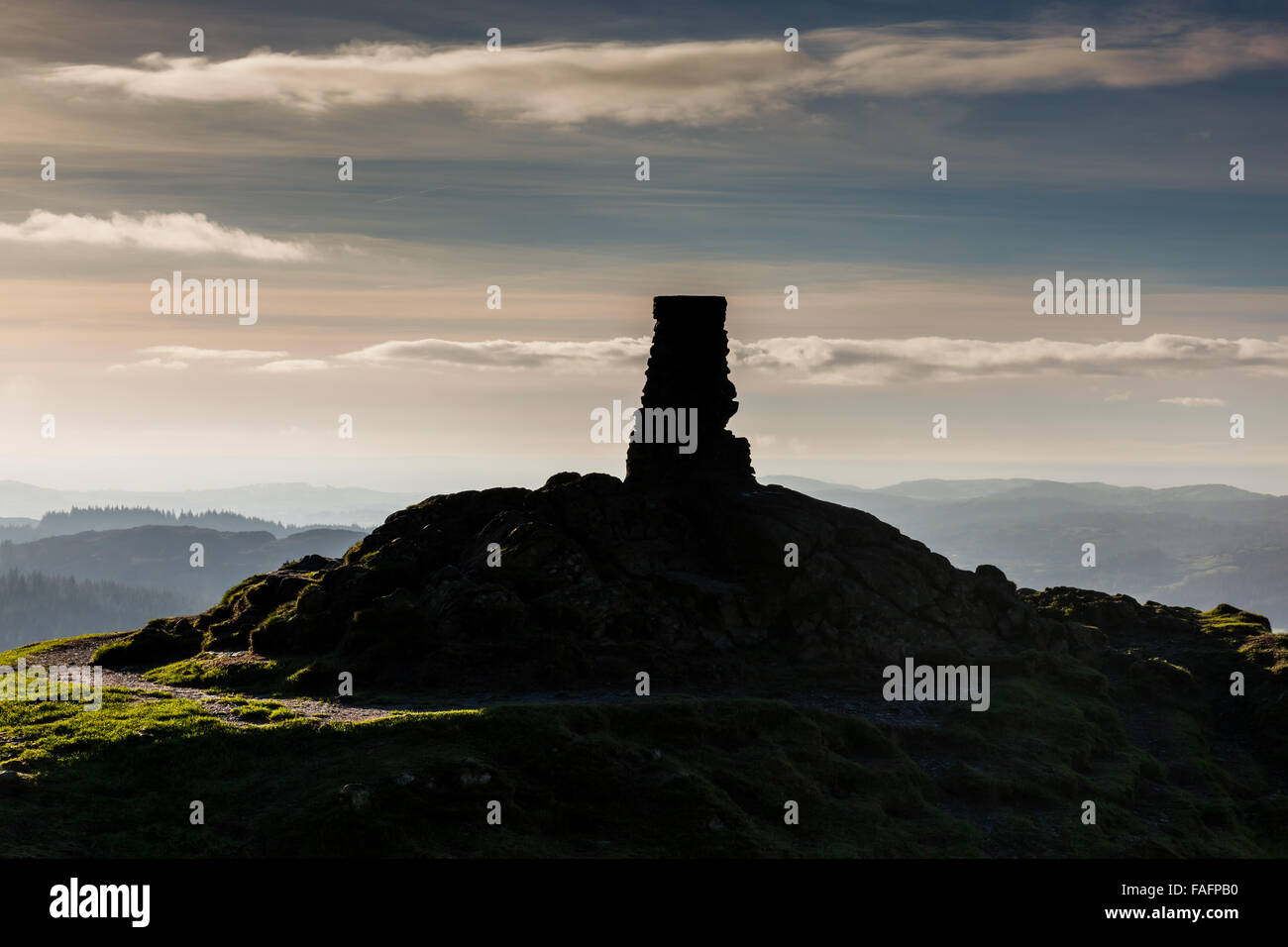 The summit of Gummer's How near Newby Bridge, Lake District, Cumbria - Stock Image