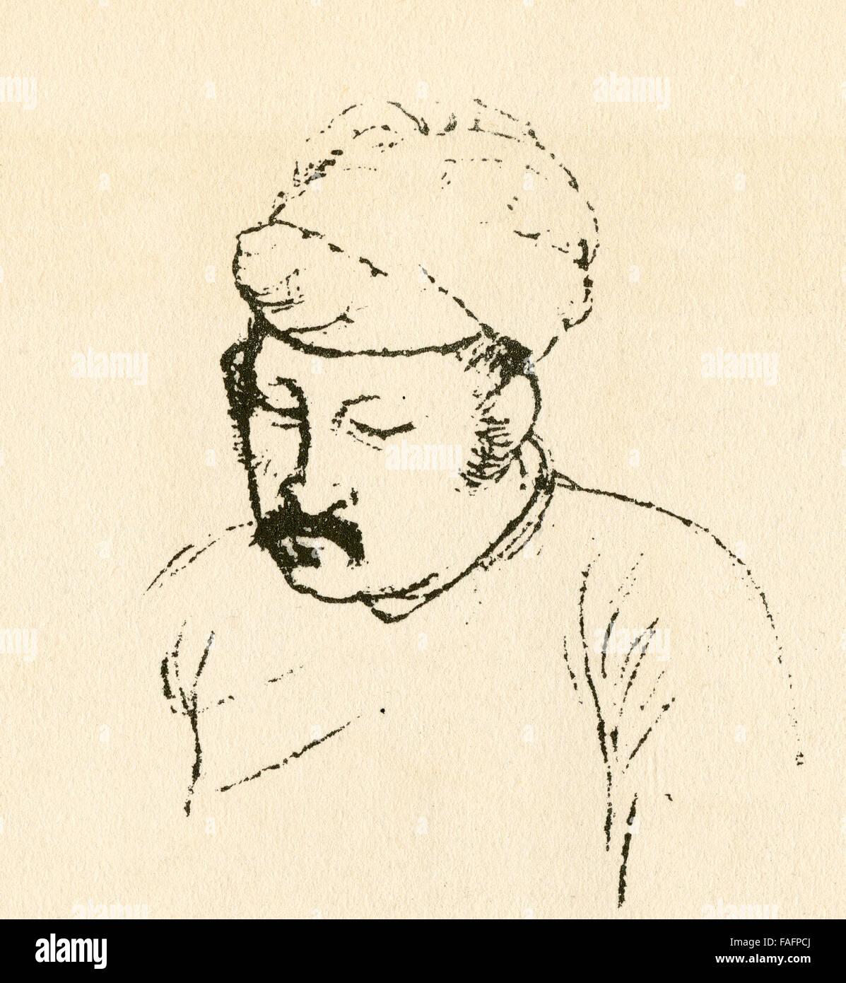 Abu'l-Fath Jalal ud-din Muhammad Akbar, aka Akbar I and Akbar the Great, 1542 - 1605.  3rd Mughal Emperor. - Stock Image
