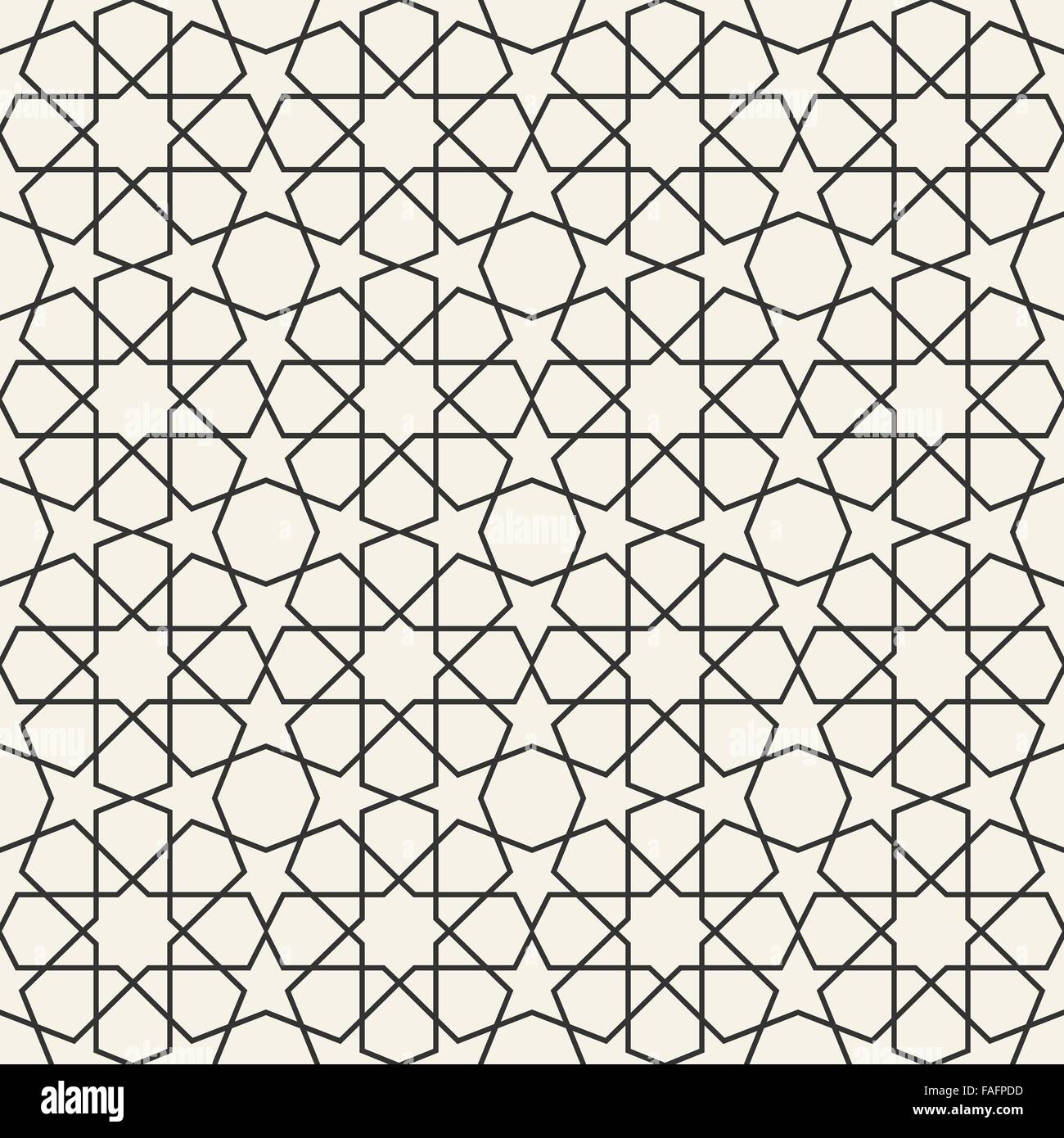 Abstract Seamless Geometric Islamic Wallpaper Pattern For Your