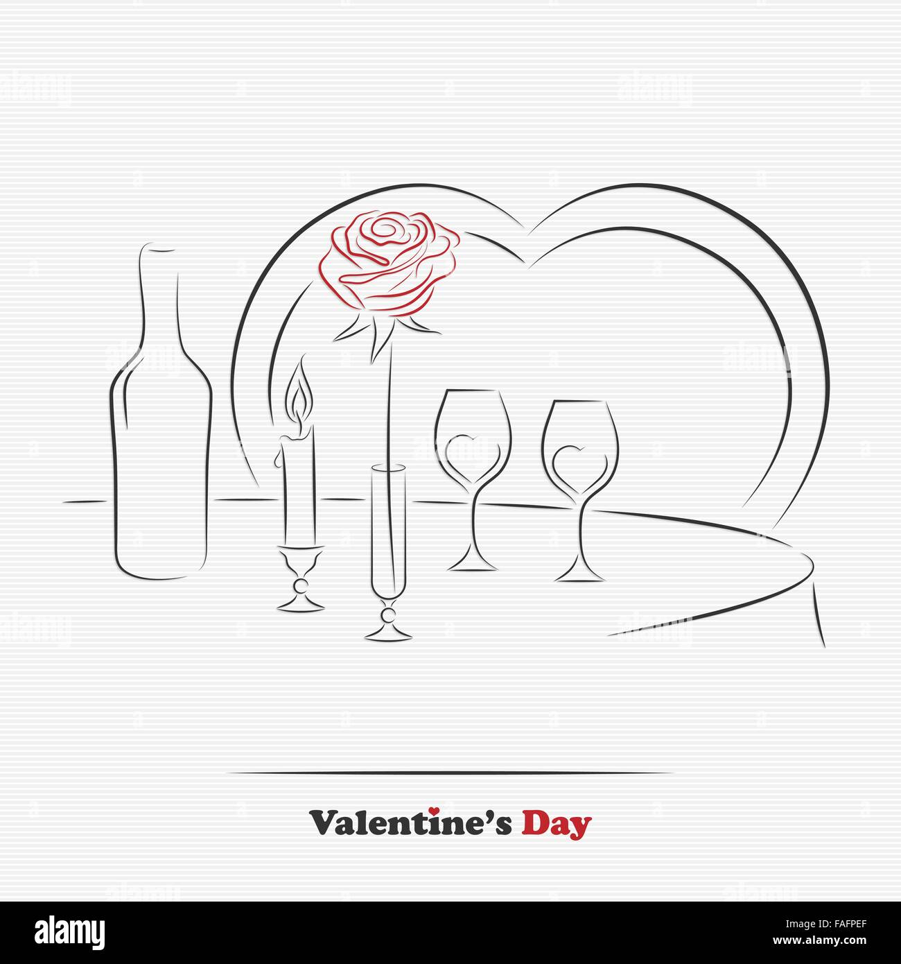 Valentine S Day Restaurant Table For Two For Greeting Or