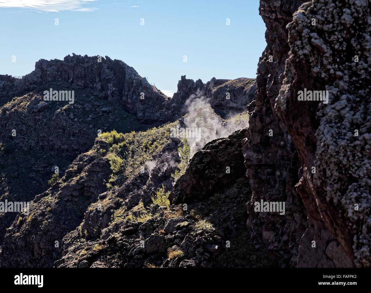 Vesuvius fumaroles - Stock Image