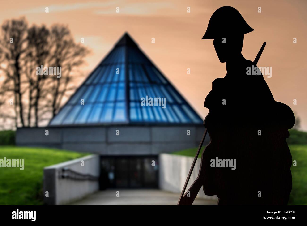 Plugstreet 14-18 Experience, First World War Interpretation Centre at Ploegsteert, West Flanders, Belgium - Stock Image