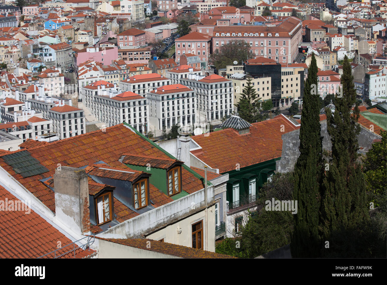 Portugal, Lisbon, city centre, cityscape Stock Photo