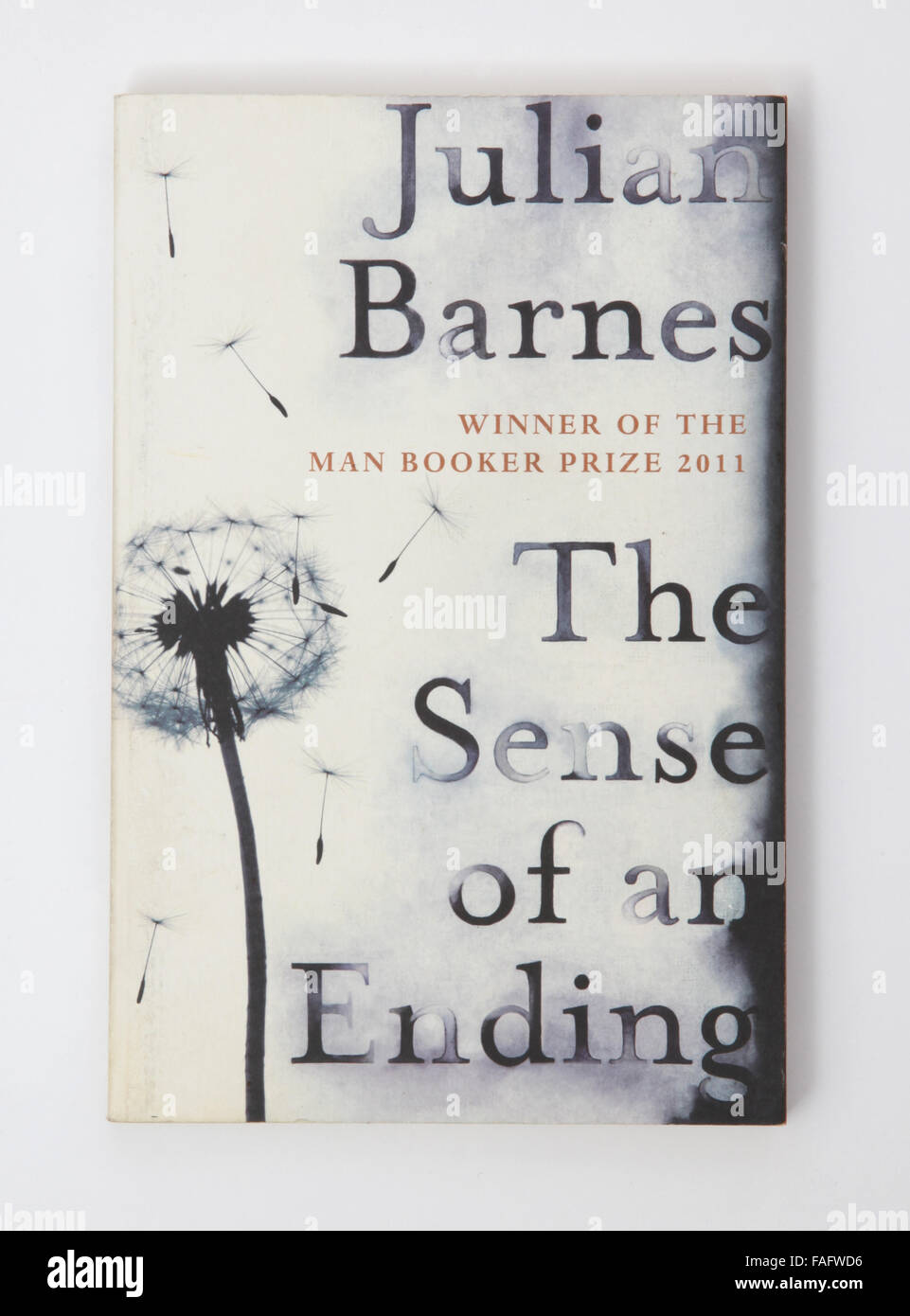 The book - The sense of an ending by Julian Barnes. Winner of The Man Booker Prize 2011 - Stock Image