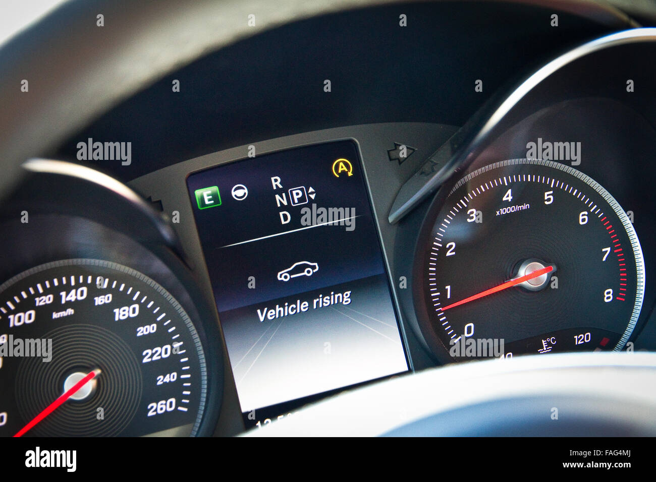Dashboard Of Mercedes Benz Stock Photos Dashboard Of Mercedes Benz