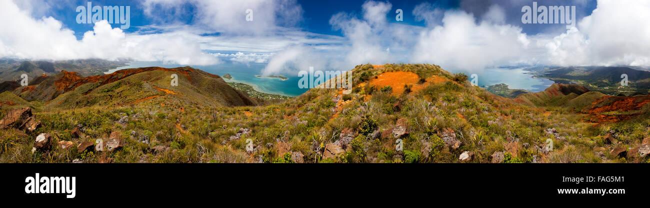 Coastal panorama south of Noumea, New Caledonia. - Stock Image