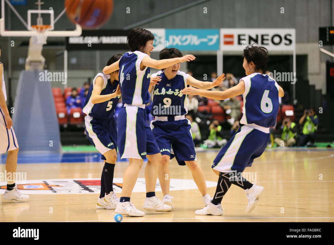 Tokyo Metropolitan Gymnasium, Tokyo, Japan. 28th Dec, 2015. Gifu joshi team group, DECEMBER 28, 2015 - Basketball Stock Photo