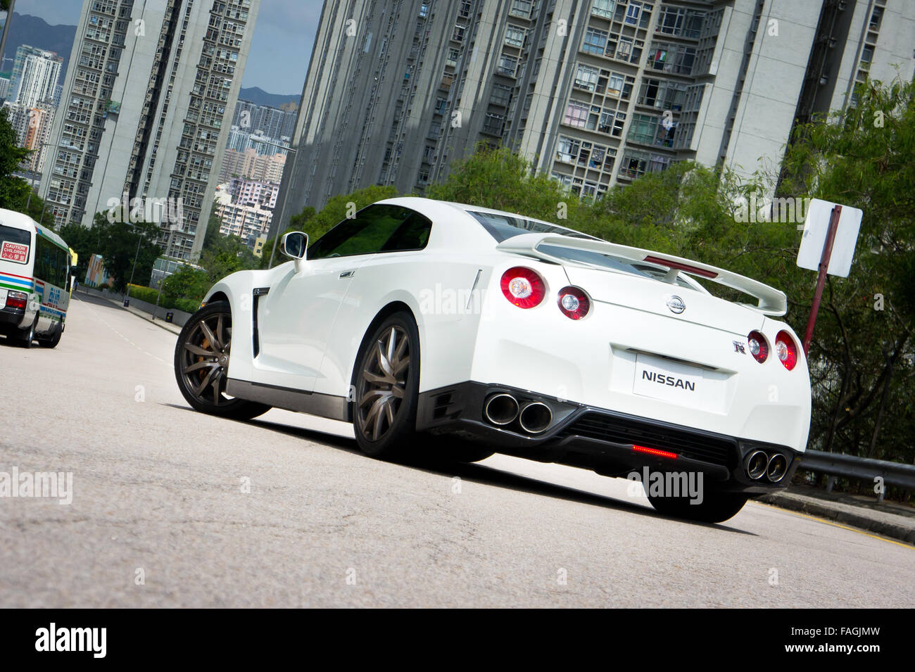 Good Hong Kong, China SEPT 15, 2011 : Nissan GT R Super Car Test