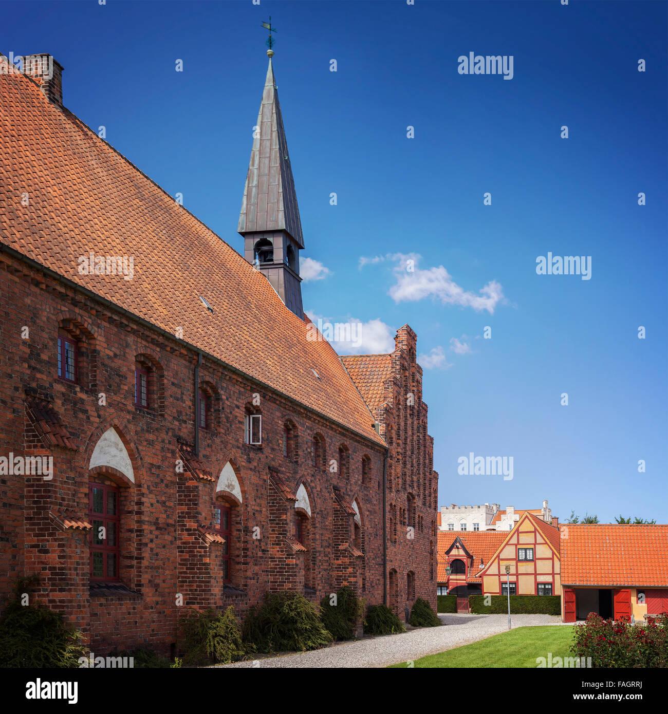 Image of the longhouse of Saint Olafs church. Helsingor, Denmark. - Stock Image