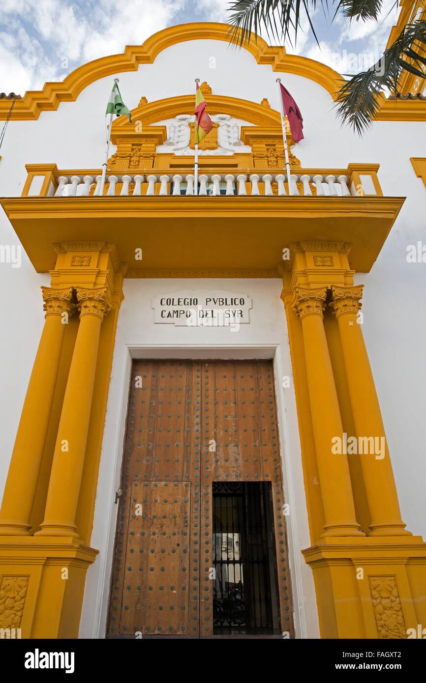 Public school in Cadiz Spain - Stock Image