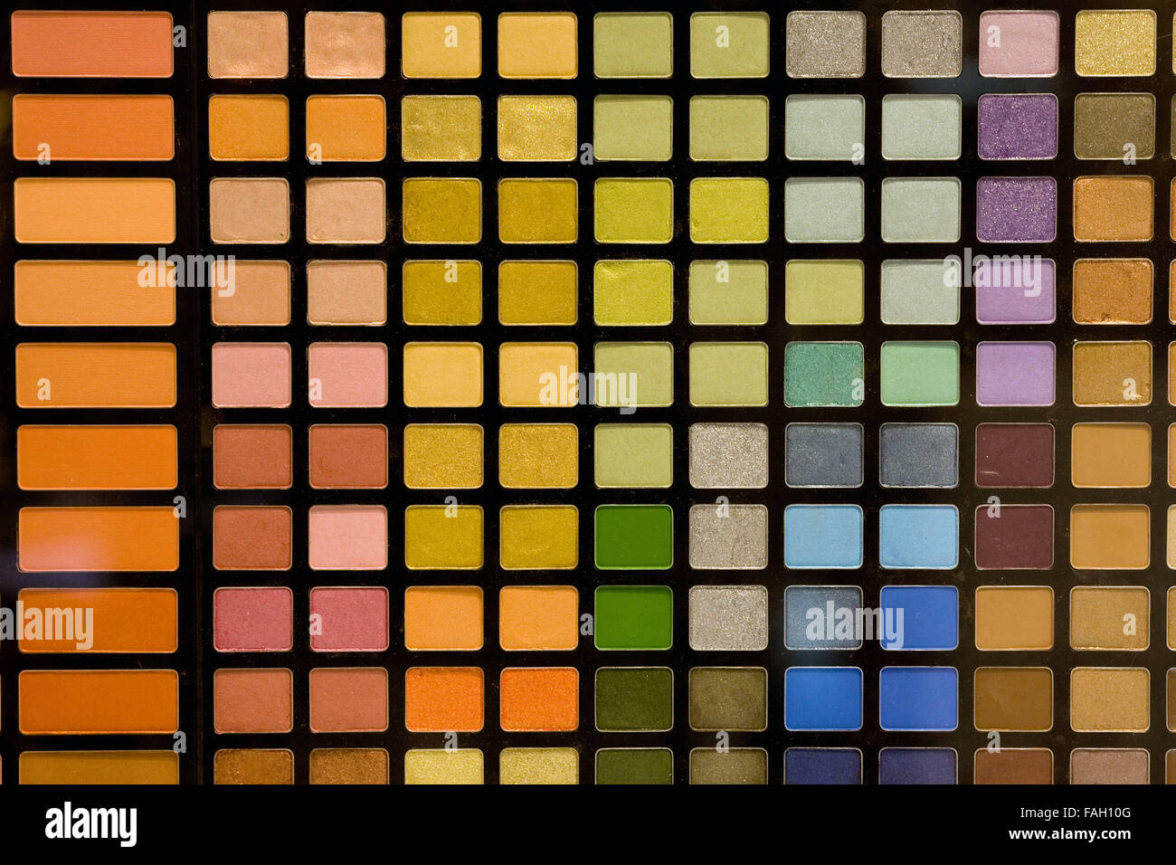 a square eye shadow palette - Stock Image