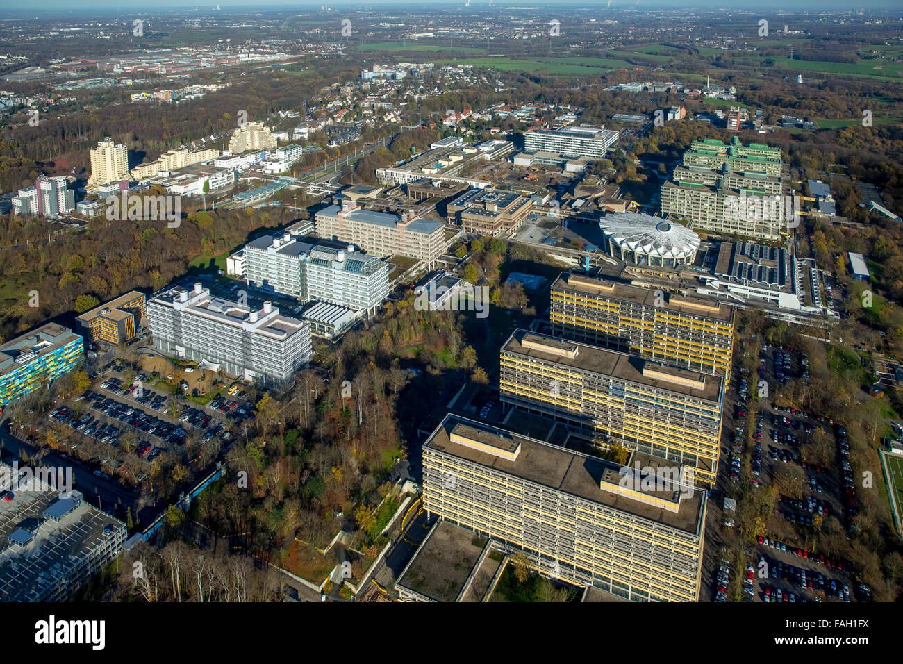 Ruhr University Bochum, Bochum, Ruhr district, North Rhine-Westphalia, Germany - Stock Image