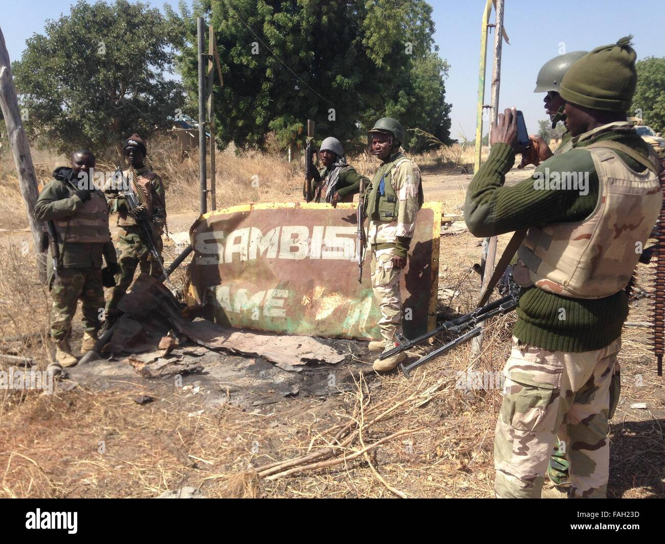 It has been a years since the Nigerian's army enter in battle with the arm group Boko Haram. Boko Haram have killed - Stock Image